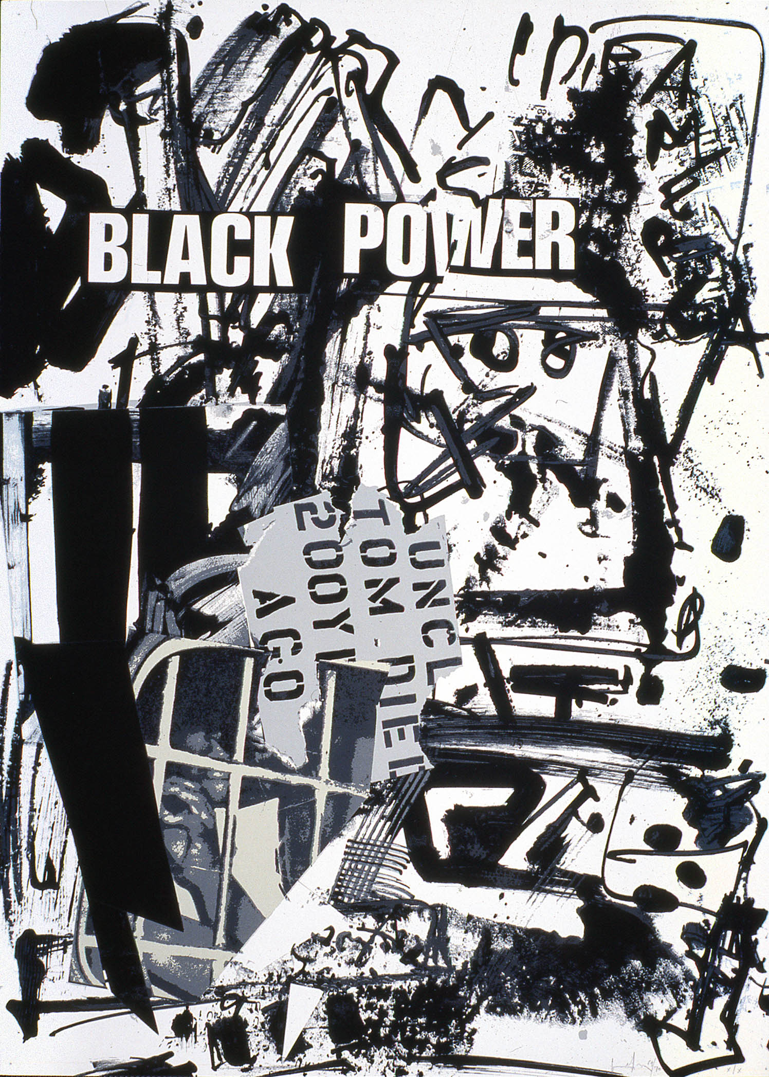 'Black Power' 1969, 70 x 50 cm, 5 col. Cat. n.732