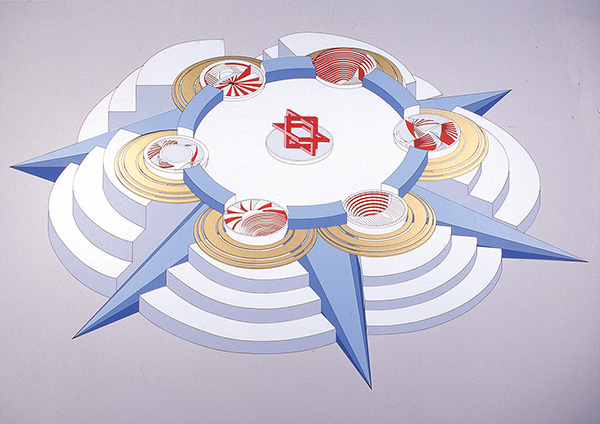 'The six of Tentacles', 1991, 70 x 100 cm, 12 col. Cat. n.6