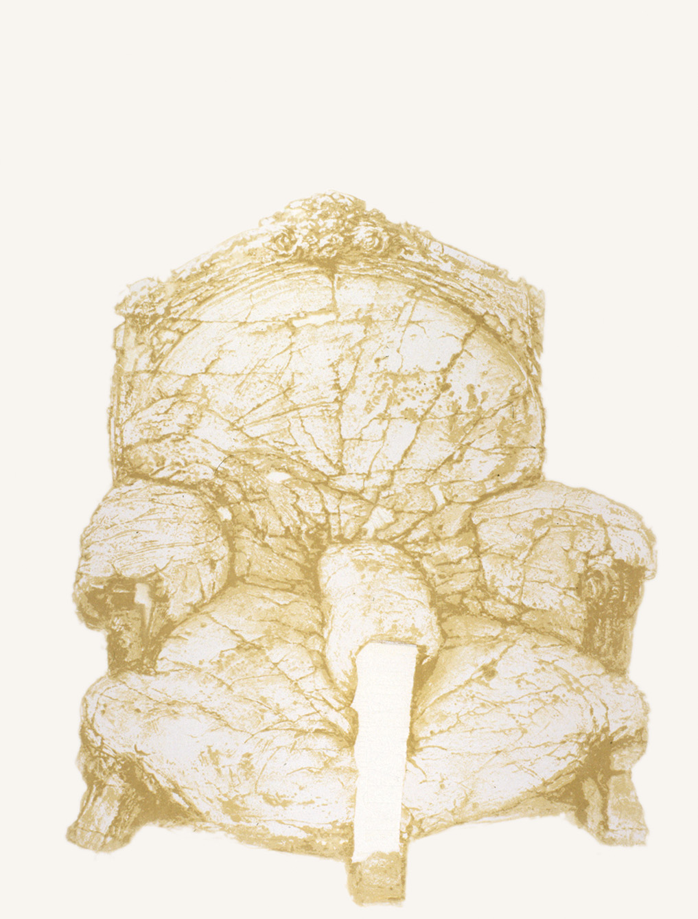 'White chair' 1980, 80 x 60 cm, 8 col. Cat. n.464